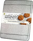 Ultra Cuisine 100% Stainless Steel Wire Cooling Rack for Baking fits Half ...